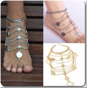 Brillant 1 Fußkette Xl Fußkettchen Fußschmuck Knöchel Fuß Schmuck Silber Oder Gold Farbe