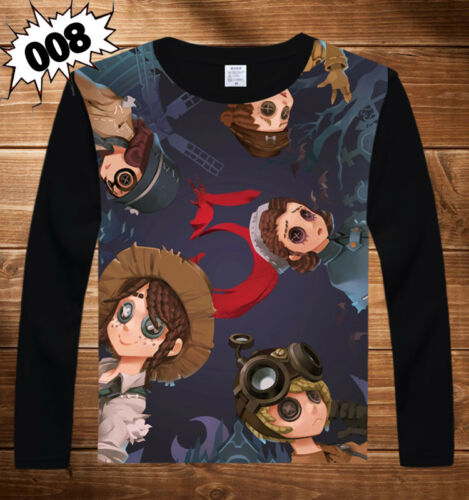 Cos Game Identity V Long Sleeve Otaku Pullover Crewneck Tee T-shirt S-3XL#Oq7