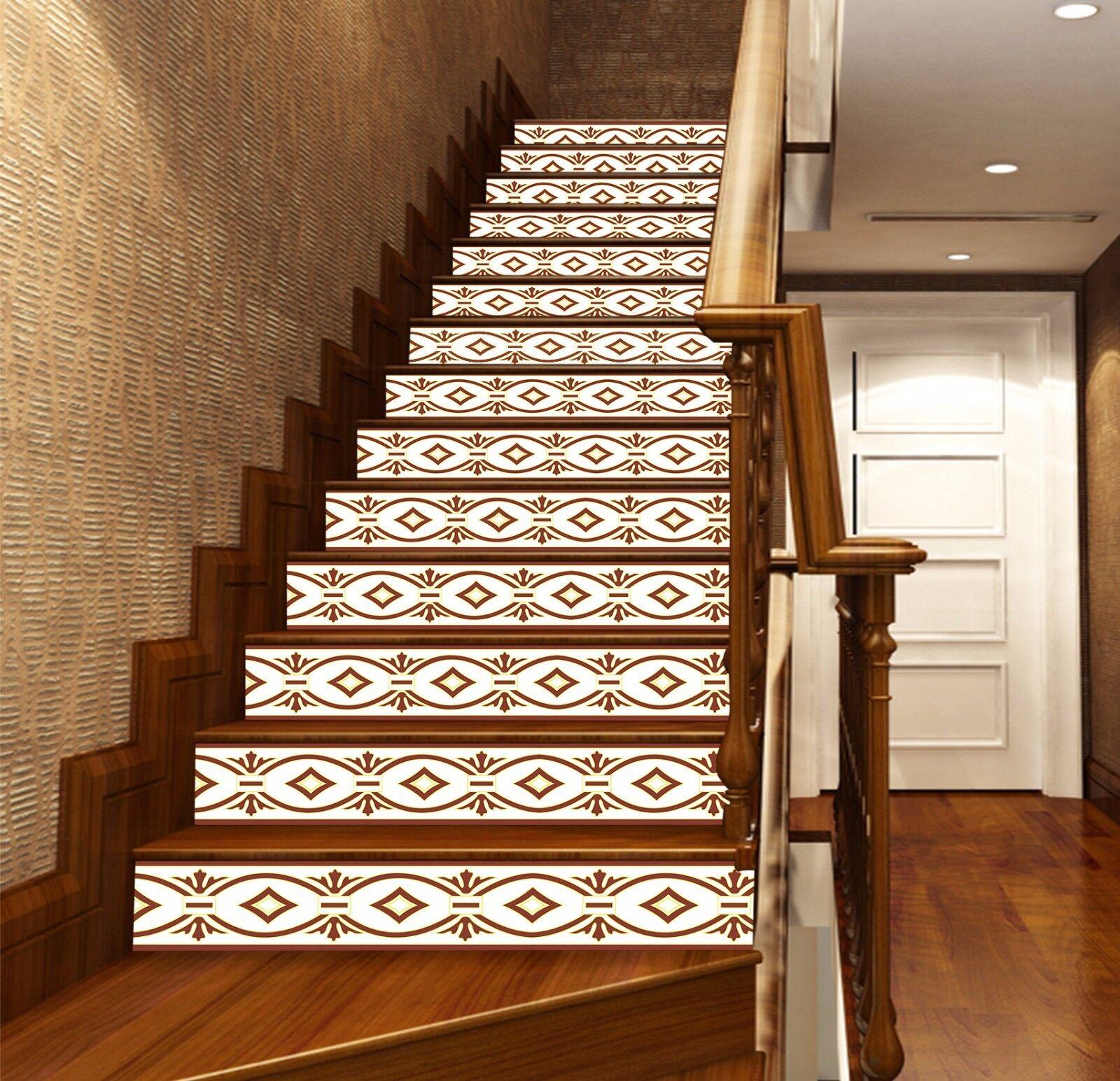 3D Linienmuster 349 Stair Risers Dekoration Fototapete Vinyl Aufkleber Tapete DE