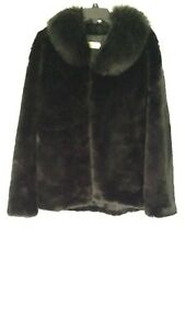 Dream Fausse Xl Angel en Fourrure Noir Vintage Manteau 4C5qW
