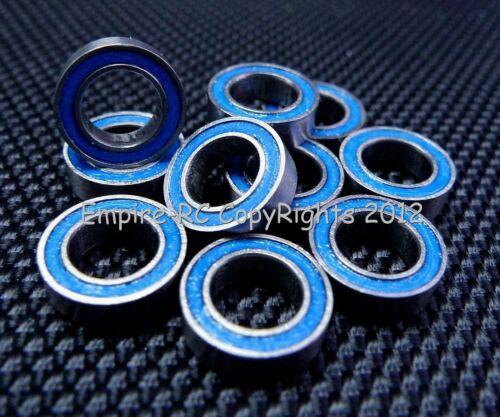 BLUE Rubber Sealed Ball Bearing Bearings 25 PCS 6*10*3 6x10x3mm MR106RS