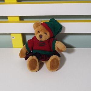 BENJI-BEAR-RUSS-BERRIE-TEDDY-SOFT-TOY-PLUSH-TOY-CHECKERED-COAT-SOFT-TOY-16CM