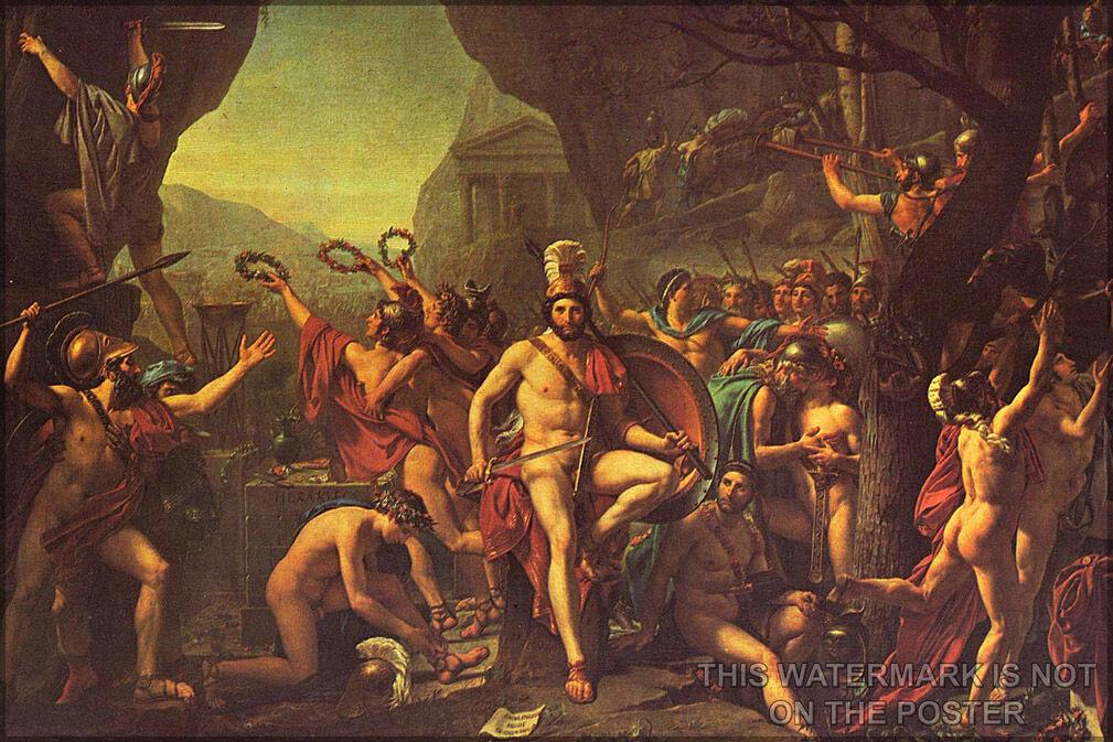 Poster, Molte Misure; Misure; Misure; Leonida At Thermopylae da Jacques-Louis 42bf0c