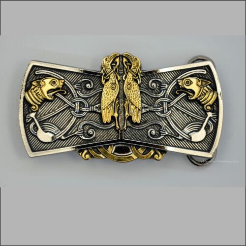 006 Go Celtic birds adorno en la cintura belt buckle celtas la edad media Design druida