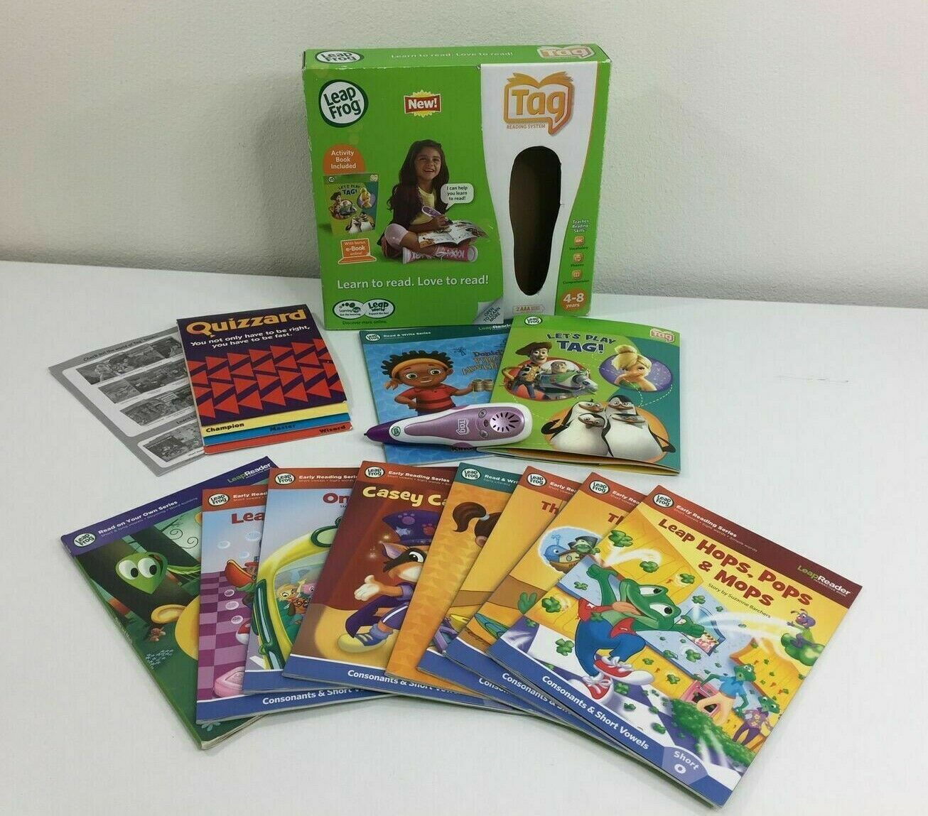 Leapfrog Tag Kid's Touch Reading Educational Learning System + 8 Activity Books