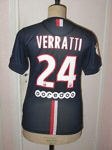 Maillot-shirt-trikot-maglia-ancien-VERRATTI-PSG-PARIS-saison-2014-2015-ITALIA