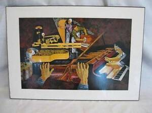 Piano-Maker-Wall-Plaque-Colorful-Print-Kane-Virginia-Plak-Music-Keyboard-O-AS-IS