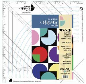 Couleur-Fille-courbes-classiques-Quilting-Ruler-Pour-couper-dix-courbe-TAILLES-4-034-8-1-2-034