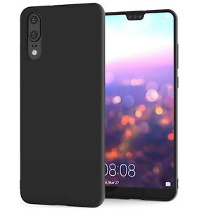 For-Huawei-P20-Black-New-Ultra-Slim-Soft-Silicone-TPU-Matte-Back-Case-Cover-UK