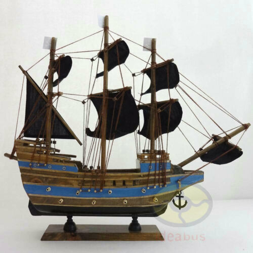 "WOOD MODEL 15.3/""length PIRATE SHIP Sailing Boat Corsair Tall Ship Nautical decor"