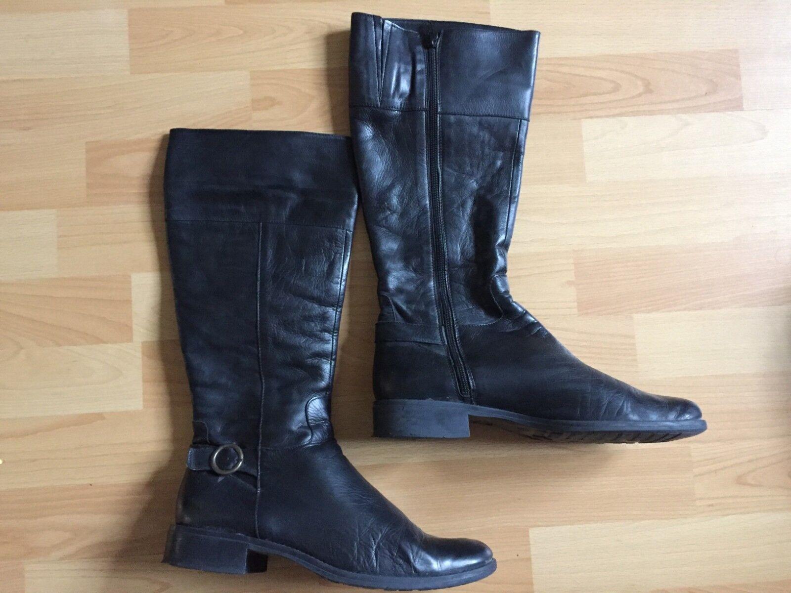 Lavoraziome Silberina Damenstiefel Stiefel Gr 40 schwarz Leder Schuhe Damenschuh