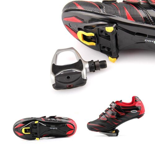 2x Road Bike Cycling Self-locking Pedal Cleats Set For Shimano SM-SH11 SPD-SL