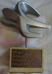Sculpture Aluminium Inauguration Piste 3900m Aeroport De Bale Mulhouse 1979 Ventes Bon Marché