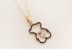 Rose-Gold-GP-Teddy-Bear-Pave-Cubic-Zirconia-Pendant-Chain-Necklace