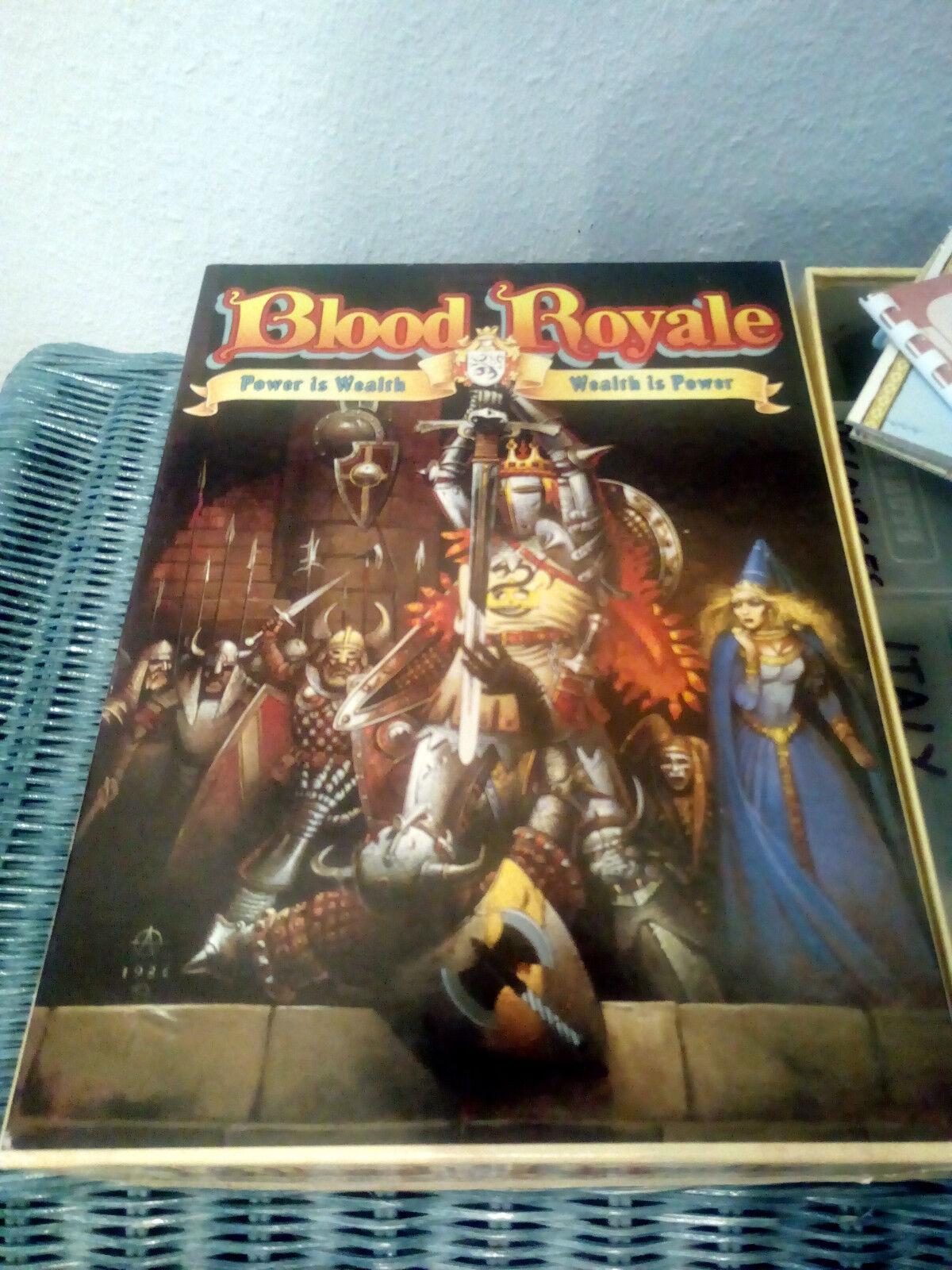 Blood Royale Fantasy Board game by Games Workshop (1987) UNIQUEMENT POUR Hardcore Gamer