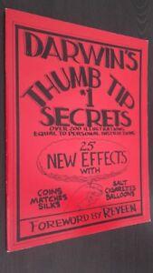 DI DARWIN Thumb Tip 1 Segreti Over 200 Illustrazioni Foreword By Reveen 1984 Tbe
