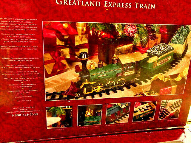 Jahr Christmas Greatland Express  G Gauge 1992 Hong Kong Made for Target