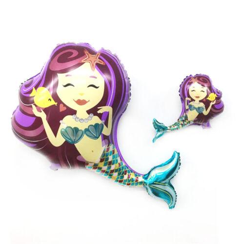Princess Mermaid Foil Balloons Kids Toys Christmas Birthday Party DIY Decor SP
