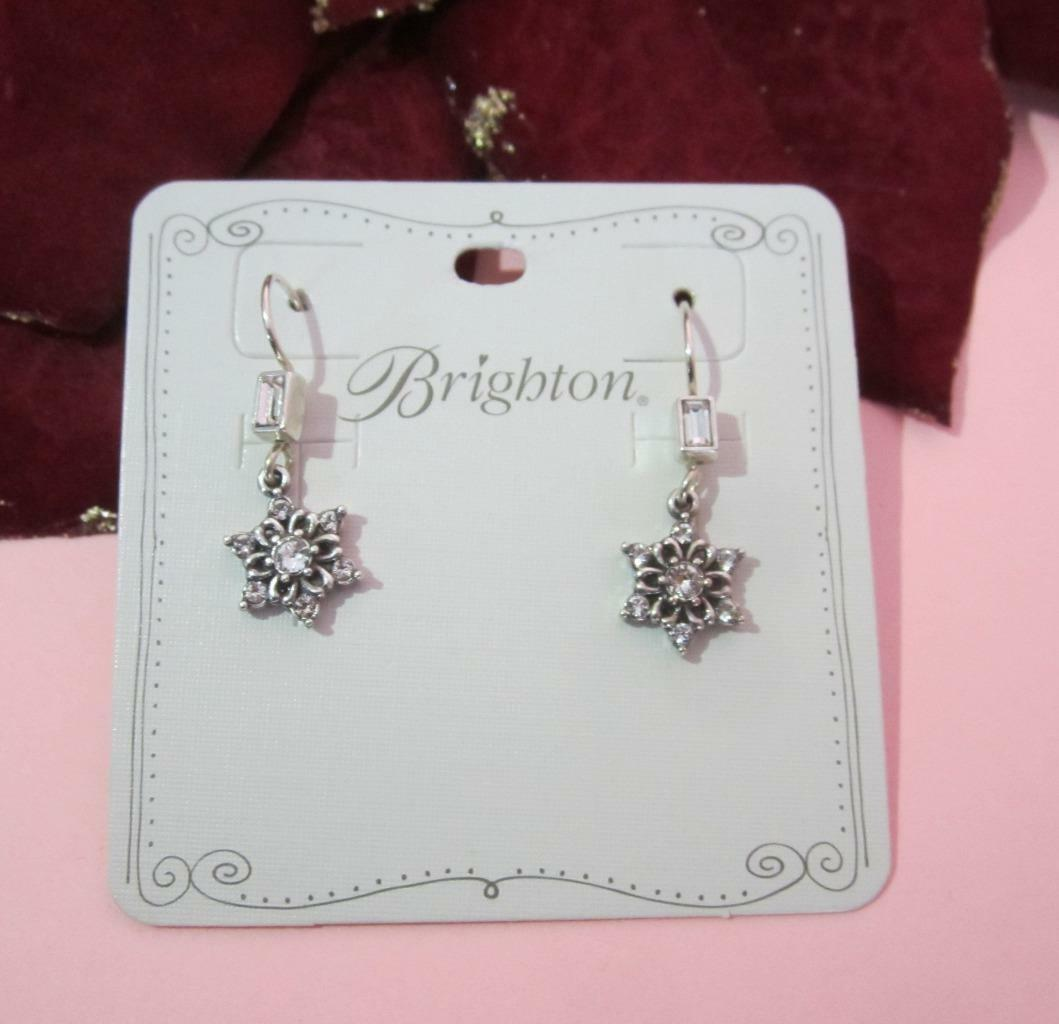 Brighton ARCTICA Collection Christmas Holiday Drop Earrings NWT