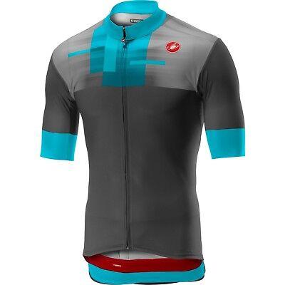 LIGHT BLACK NEW 2019 Castelli RUOTA Short Sleeve Full Zip Cycling Jersey