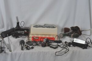 Microphones-Olsen-RCA-Dynamic-vintage-also-antennas-for-repair-parts-mint