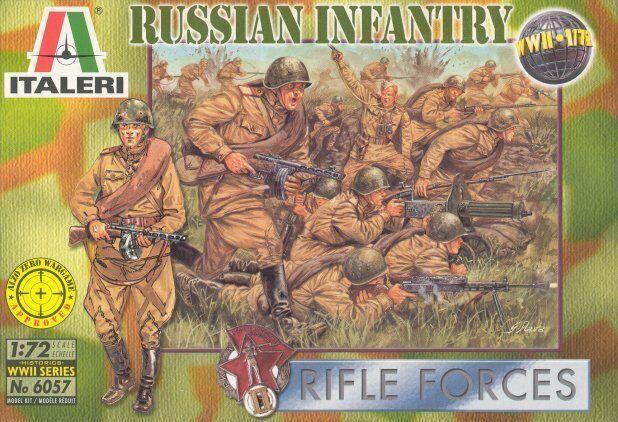 Italeri 1/72 II Guerra Mundial de Rusia Infantería #6057