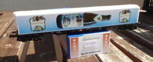 Roco-MEMO-H0-SOSE-Containertragwagen-Sgjs-Papst-Bier-AAE-Ep-5-6-in-OVP-neuwertig