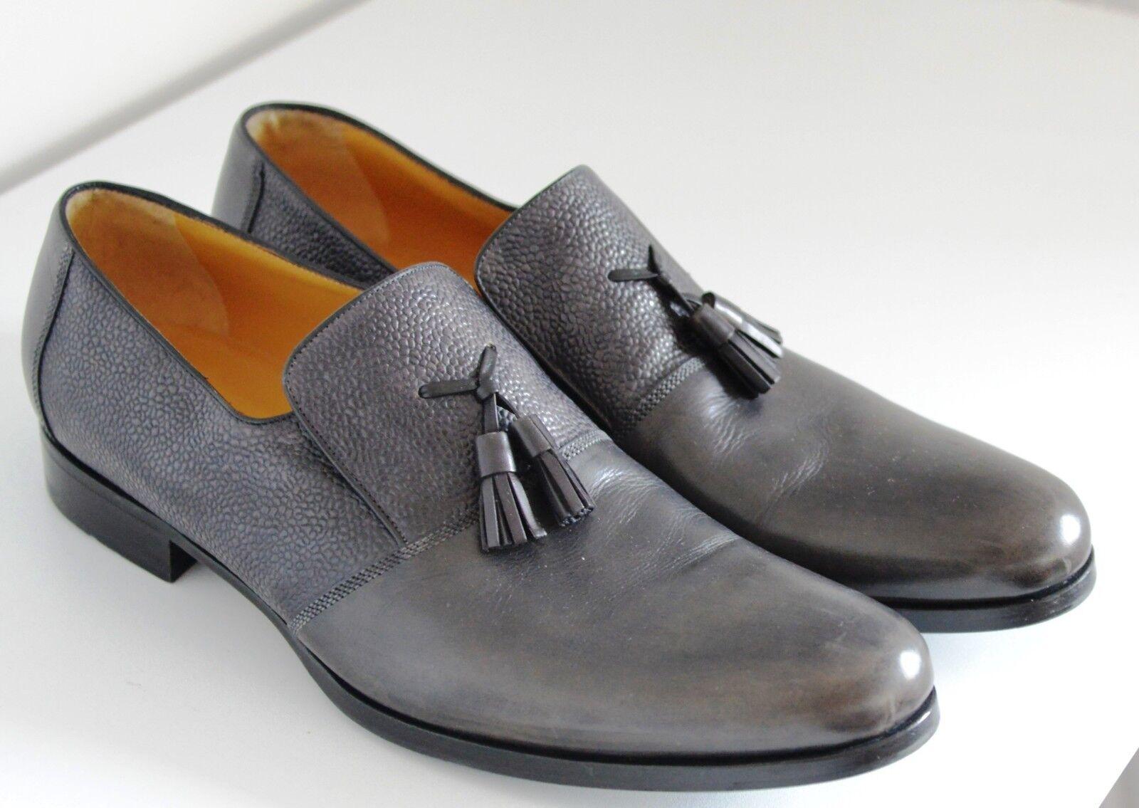 Zapatos de mujer baratos zapatos de mujer Nuevo A. Testoni Diseñador Borla italiano Mocasín Cuero Zapatos Slip On Smart Reino Unido 10
