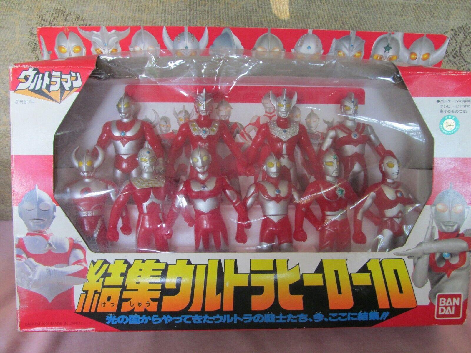 Bandai 1991 Ultraman Ultra Hero 10 Figuras Box Set común Rider Power Rangers