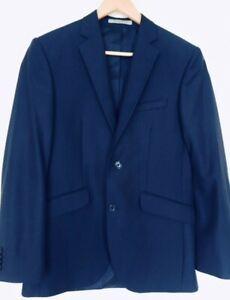 Details zu Herren Anzug Sehr Edel in Blau gestreift * Sakko Gr.44 * Hose Gr.44 italienisch