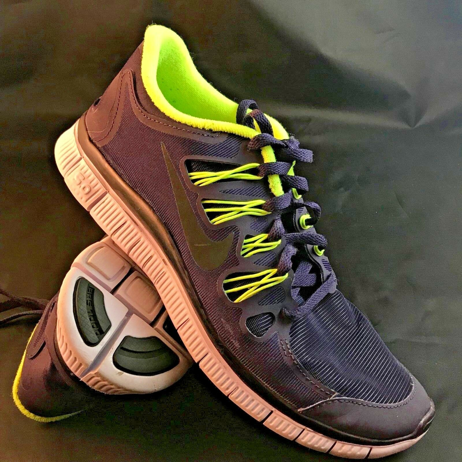 MINT NIKE FREE 5.0 SHIELD h20 repel RUNNING Chaussures Femme 9.5, 41 EUR  Violet  Lime