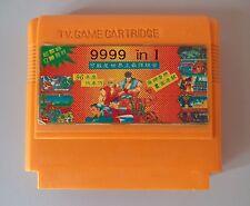 9999 in 1 Famicom Dendy NES Yellow Casette Video Games.
