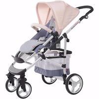 Red Castle Ready2shop Newborn & Toddler Stroller Pushchair Girls Pram Pink