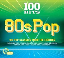 100 HITS - 80S POP (ALICE COOPER/TOTO/EUROPE/KING/H2O/BROS/+)  5 CD NEU