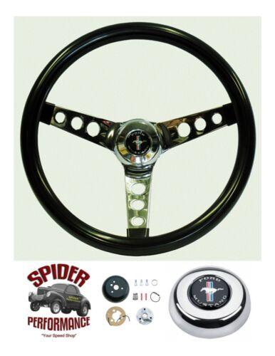 """1974-1977 Mustang 2 steering wheel PONY 13 1//2/"""" GLOSSY GRIP"""