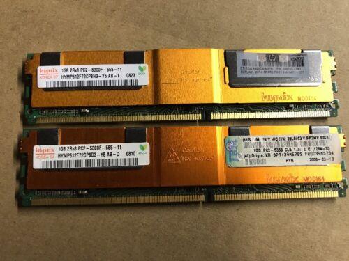 398706-051 Hynix 1GB 2Rx8 PC2-5300F-555-11 2 x HP Server RAM MEMORY P//N
