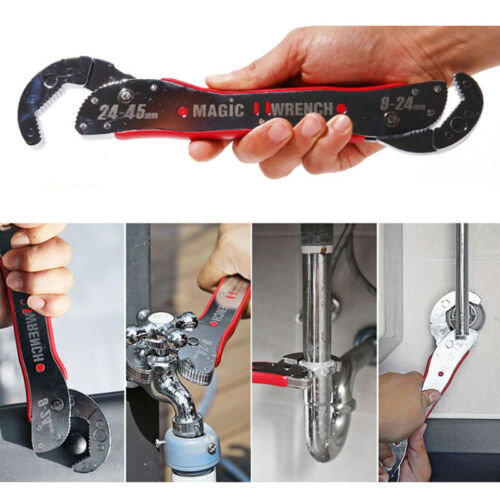 New Magic Wrench Adjustable Hand Self Spanner Universal Grip DIY Tools 9mm~45mm