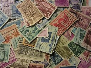 Old timer stamp lots ALL DIFFERENT USED USA 3 CENT COMMEMORATIVE *FREE SHIPPING*