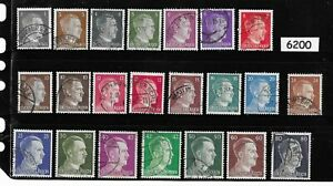 Complete-stamp-set-Adolph-Hitler-Third-Reich-WWII-Germany-1941-1944