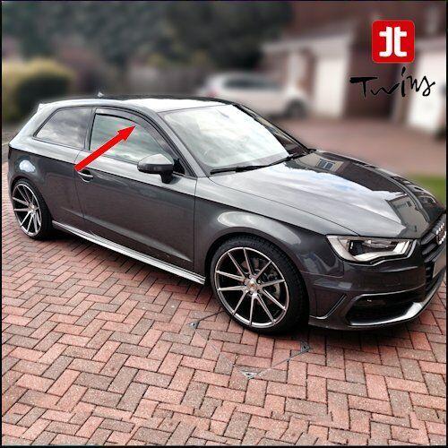 Déflecteurs de vent pluie air teintées pour Audi A3 8V 3 portes depuis 2012 S3