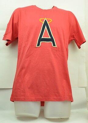 Sport Baseball & Softball Mlb California Los Angeles Angels Red Jacket M Herren Rot Kurzärmelig T-shirt Exquisite Traditionelle Stickkunst