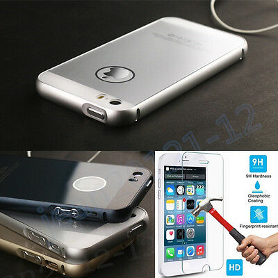 Ultra-thin Luxury Aluminum Metal Frame&Acrylic Back Case Cover For iphone 5 /5S