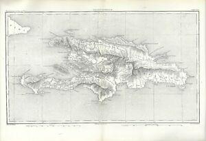 Cartina Geografica Haiti.Carta Geografica Antica Hispaniola Haiti Rep Dominicana Thiers 1880 Antique Map Ebay