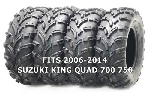 4 WANDA ATV//UTV Tires 25X8-12 25X10-12 for 2006-2014 SUZUKI KING QUAD 700 750