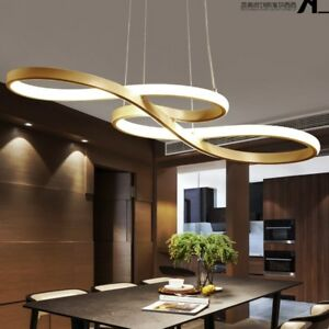 Image Is Loading Led Chandelier Dining Room Ceiling Light Acrylic Restaurant