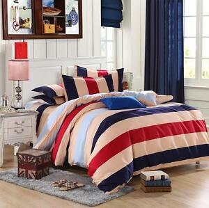 FitCA-Young-Single-Double-Queen-King-Size-Bed-Set-Pillowcase-Quilt-Duvet-Cover