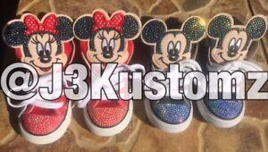 6bf454c9 La foto se está cargando Personalizado-Nino-Converse -Chuck-Taylors-Zapatillas-De-Mickey-