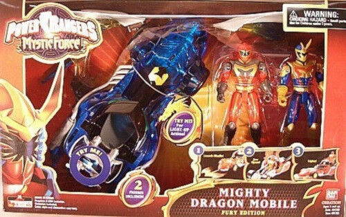 disfrutando de sus compras Power Rangers Rangers Rangers Mystic Force-Mighty Dragon móvil Fury Edition - 2 Rangers (Mib)  promociones