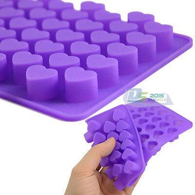 55 Mini Heart Silicone Cake Chocolate Cookie Baking Mould Soap Mold DIY Handmade