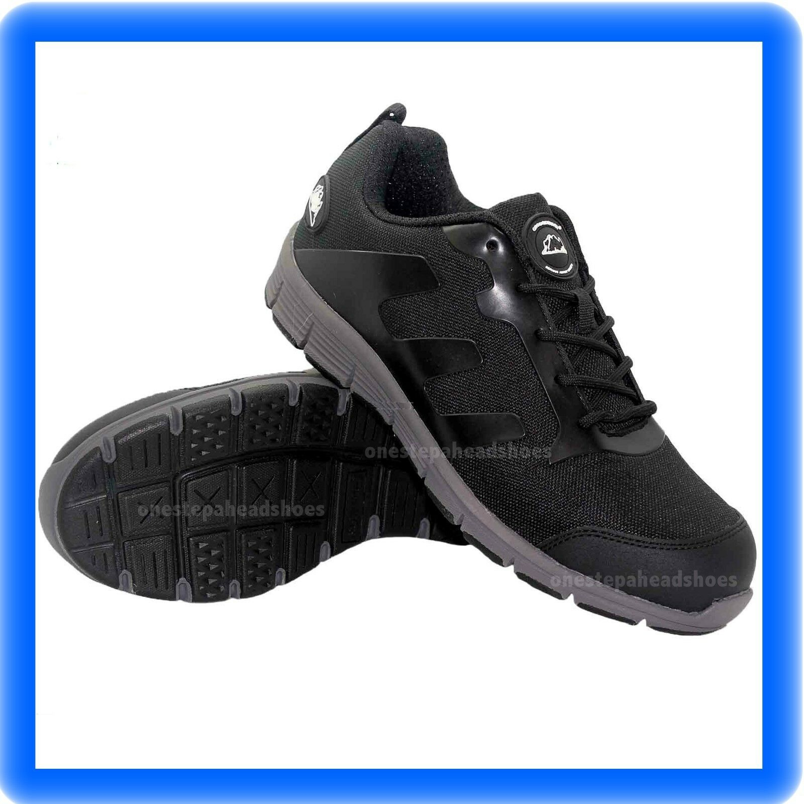 MENS  ULTRA LIGHTWEIGHT STEEL TOE CAP SAFETY TRAINER SHOES WORK SIZE UK 10 44